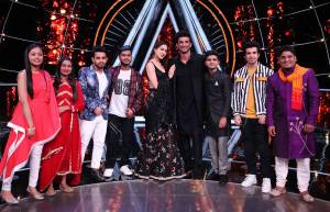 Sara Ali Khan and Sushant Singh Rajput on Indian Idol 10