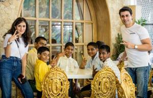 Gautam and Pankhuri celebrate Christmas with NGO kids