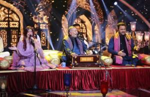 Badshah on the sets of Zee TV's Sa Re Ga Ma Pa