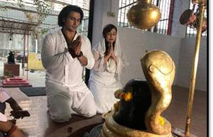 Television actors perform 'Pooja' on the occasion of Mahashivratri