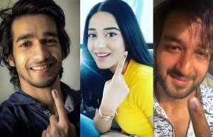 Actors cast their vote