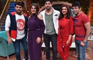 Parineeti Chopra and Sidharth Malhotra on the sets of The Kapil Sharma Show