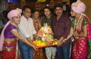 Ganpati Visarjan at Rajan Shahi's Ye Risthey Hai Pyar Ke set