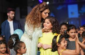 Celebs at the ramp of India Kids Fashion Week 2019