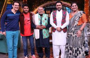 Puranchand Wadali on the sets of Kapil Sharma show