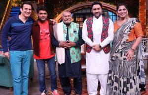 Puranchand Wadali on the sets of Kapil Sharma show