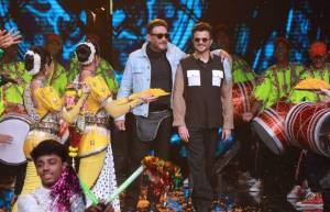 Ram Lakhan aka Anil Kapoor and Jackie Shroff on the sets of Dance+