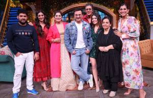 Malang and Jawani Janeman cast on sets of The Kapil Sharma Show