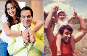 Dharmendra with daughter Esha Deol