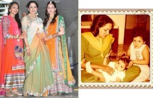 Hema Malini with Esha and Ahana Deol