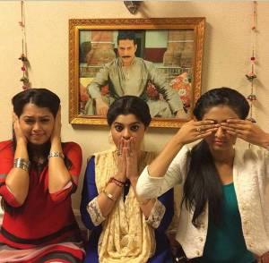 Gandhi ji's THREE monkeys