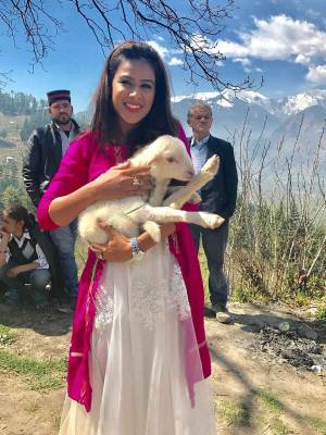 Nia has a little lamb...!