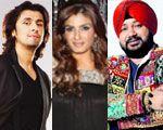 Sonu Nigam, Raveena Tandon and Daler Mehndi
