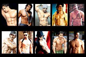 Salman Khan, Hrithik Roshan, John Abraham, Sharukh Khan,Ajay Devgan, Arjun Rampal, Ranbir Kapoor , Shahid Kapoor ,Ranveer Singh,
