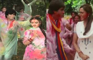 Amitabh Bachchan's Holi song: Which is more fun?