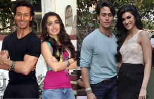 Shraddha kapoor, Kriti Sanon, Tiger Shroff