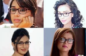 Which TV beauty looks CUTE in specs?