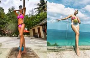 Who is the ultimate bikini babe among Erica Fernandes and Pooja Gor?