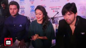 We feel like Lil Champs on sets : Himesh,Neha,               Javed & Aditya