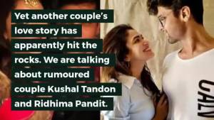OMG! Kushal Tandon and Ridhima Pandit part ways