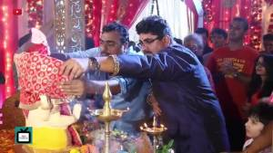 Shivangi Joshi does something special for Bappa in Yeh Rishta Kya Kehlata Hai
