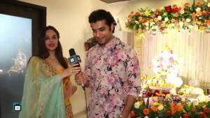 Ssharad Malhotra and Ripci Bhatia celebrate Ganesh Chathurthi with TellyChakkar