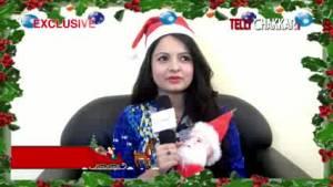 Gia wishes Merry Christmas