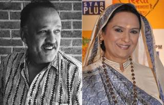 Alok Nath and Vineeta Malik