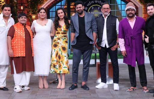 Prabhas and Shraddha Kapoor on The Kapil Sharma Show