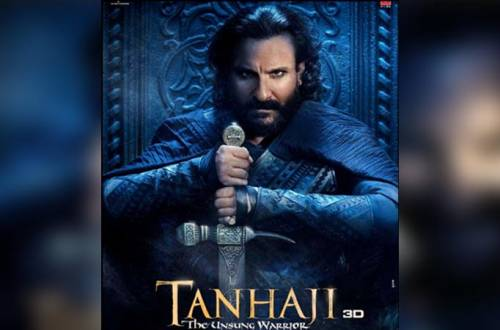Ajay, Kajol share Saif Ali Khan's warrior look in 'Tanhaji...'