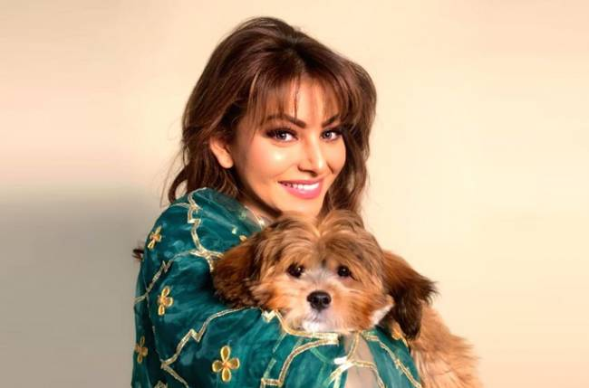 Image result for URVASHI RAUTELA INSTA GRAM PICS WITH PUPPY