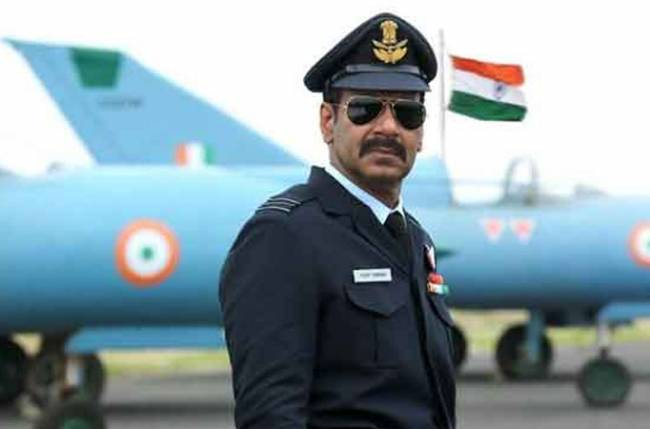 First look Ajay Devgn as IAF wing commander Vijay Karnik looks interesting