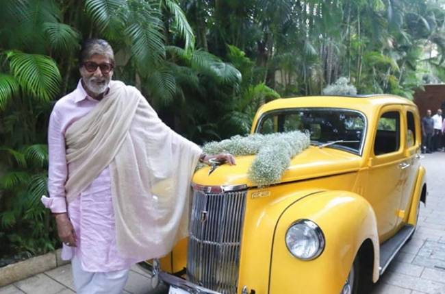 Amitabh Bachchan adds a vintage vehicle to his garage, shares photo