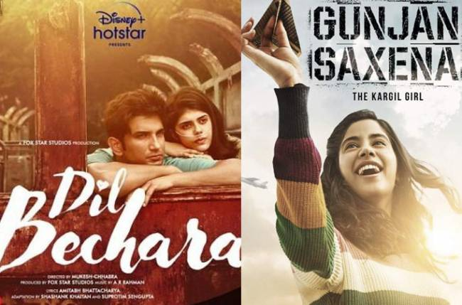 Imdb Ratings Of Ott Releases Sushant Singh Rajput S Dil Bechara Tops Gunjan Saxena The Kargil Girl Declines