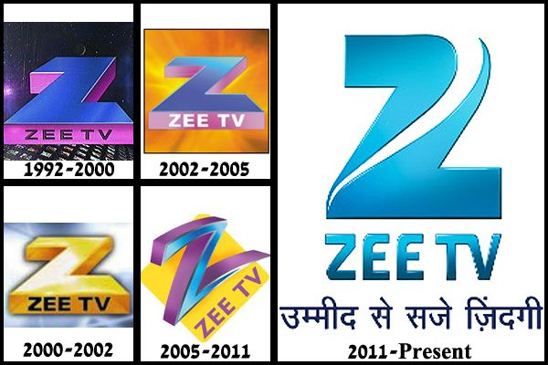 Zee TV's logos over the years