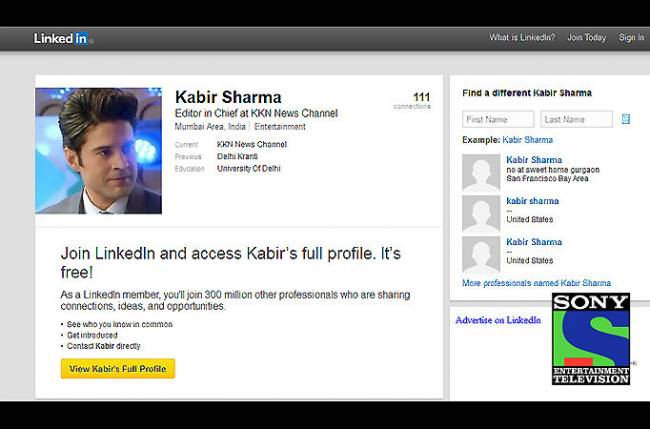 Rajeev Khandelwal aka Kabir Sharma joins LinkedIn: Sony TV's unique marketing ploy  Rajeev