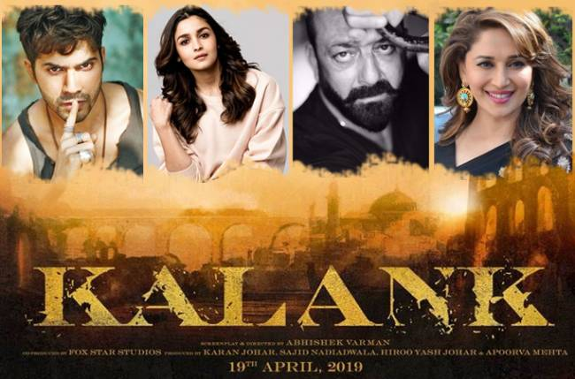 Image result for latest images of sanjay dutt and madhuri dixit new movie kalank