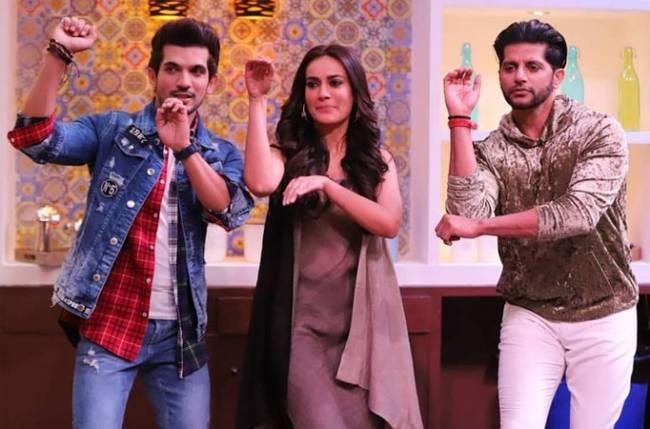 Naagin fame actors Surbhi Jyoti, Arjun Bijlani, and Karanvir Bohra's