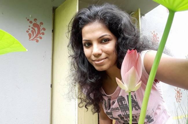 Bengali actress Brishti Roy on escort service poster