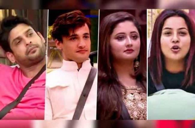 The Top 4 Contestants Asim Shehnaaz Siddarth And Rashami