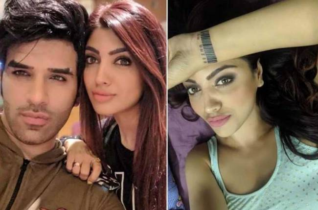 Akanksha Puri replaces tattoo of Paras' name