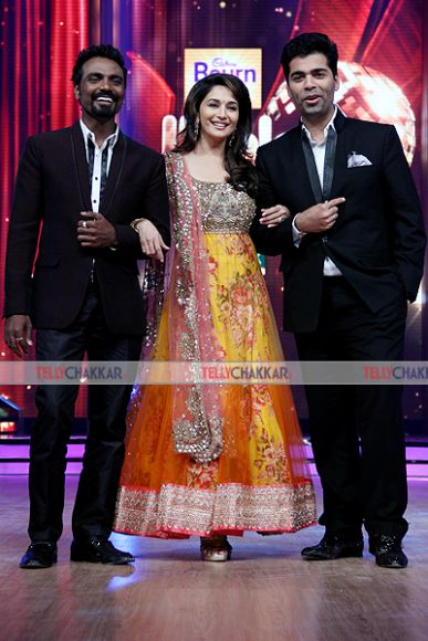Madhuri Dixit with Remo D'Souza and karan johar