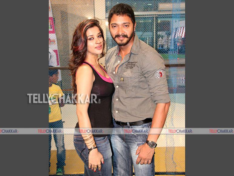 Shreyas Talpade and Madhurima