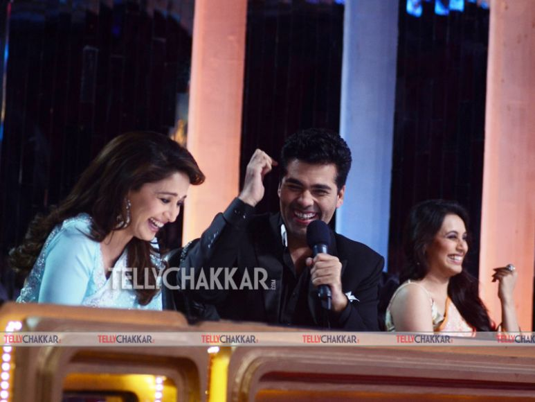 Karan Johar with Rani Mukherjee