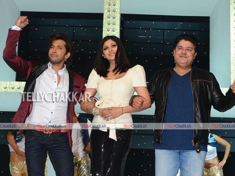 The perfect three: Terrence Lewis, Shilpa Shetty and Sajid Khan