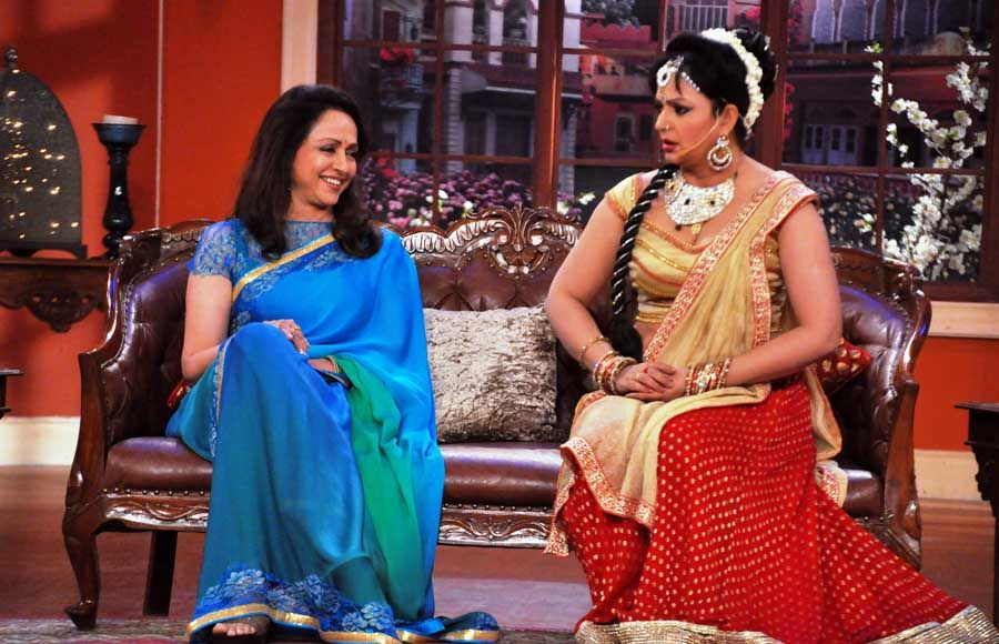 Hema Malini on the sets of Comedy Nights with Kapil