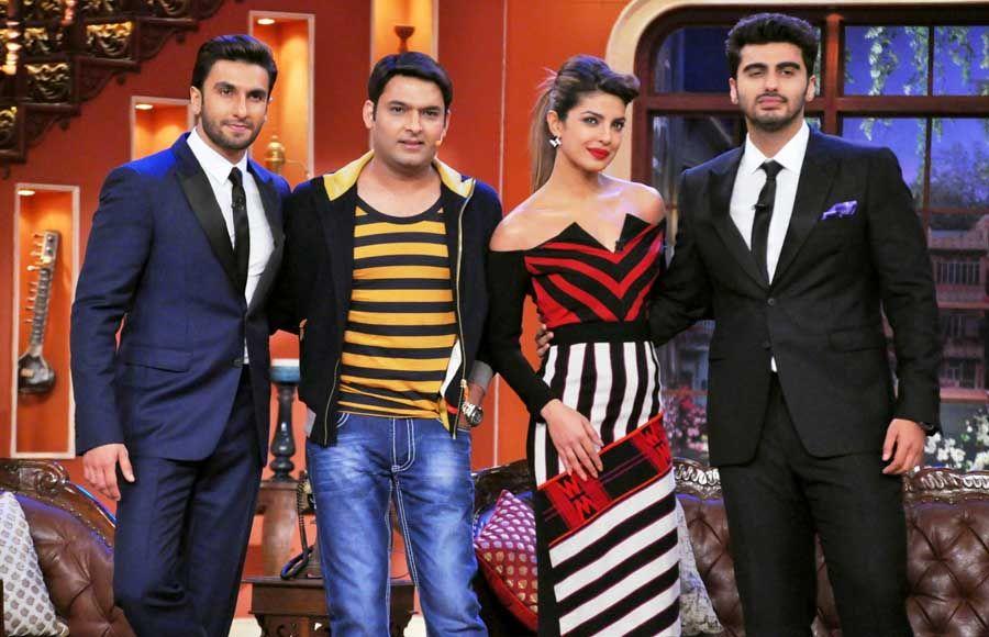 The cast of Gunday- Ranveer Singh, Priyanka Chopra and Arjun Kapoor