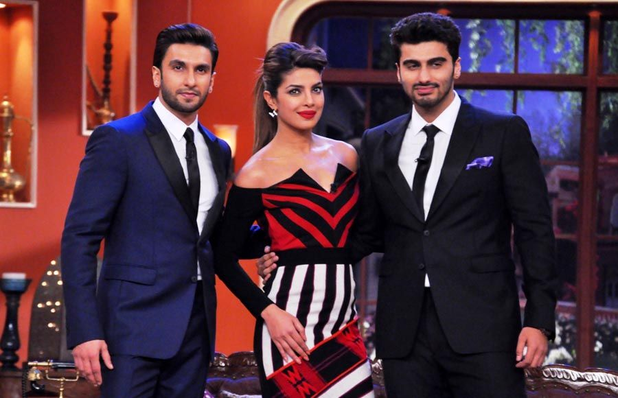 The cast of Gunday- Ranveer Singh, Priyanka Chopra and Arjun Kapoor