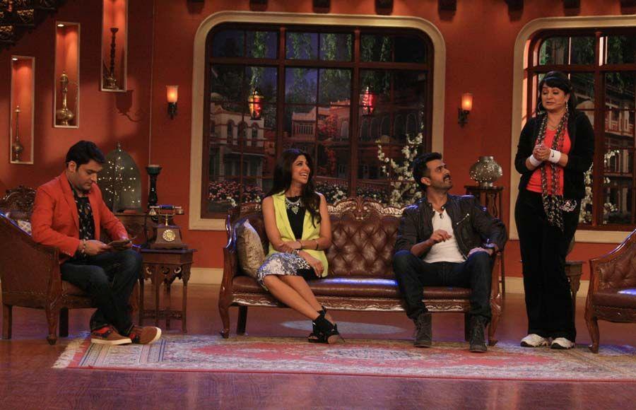 Kapil Sharma,Shilpa Shetty,Raj Kundra And Harman Baweja