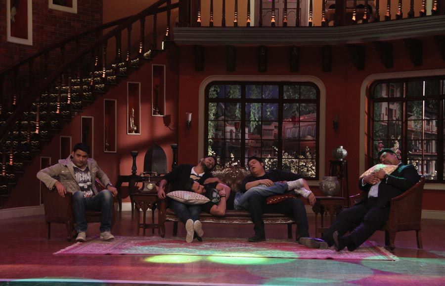 Humshakals Cast on the sets of Comedy Nights With Kapil